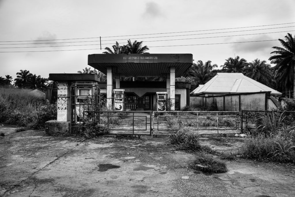 Abandoned petrol station, Umokpo Village (photo by Emeka Okereke)